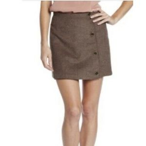 Prana Wool and polyester brown mini skirt